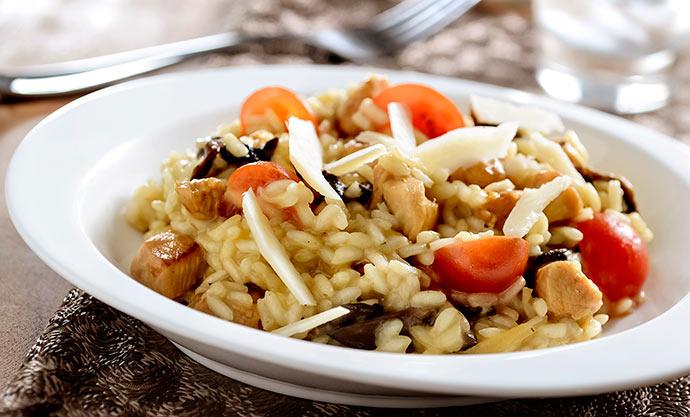 risoto de frango e funghi - Surpreenda no Dia das Mães com risoto de frango e funghi