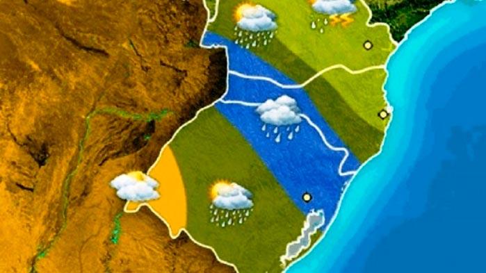 rs clima - Chuva retorna ao RS nesta quinta-feira