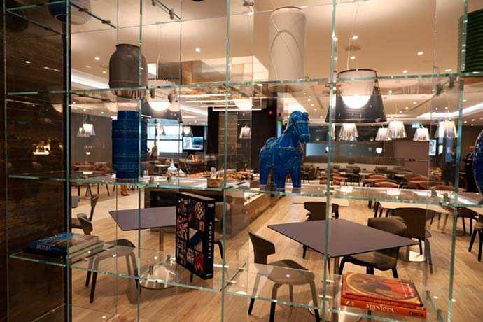 Casa Alitalia molo E - Novo lounge Casa Alitalia é inaugurado no aeroporto Leonardo da Vinci em Roma