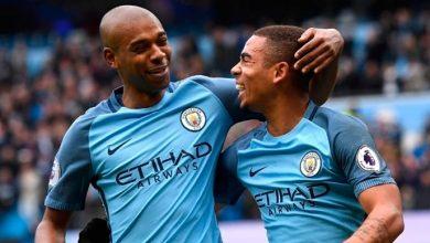 Fernandinho e Gabriel Jesus 390x220 - Manchester City lidera lista de clubes com mais jogadores na Copa