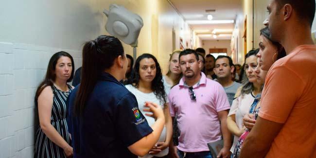 Visita guiada faz parte da atividade desenvolvida no encontro - Próximo Dia G de visita na maternidade ocorre no final do mês