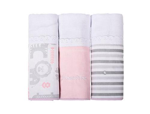 fralda bordada fem - Fisher-Price e Incomfral apresentam coleção de cama e banho