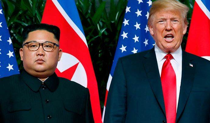 kim jong un e donald trump 690x405 - Acordo entre Trump e Kim é recebido com ceticismo por analistas
