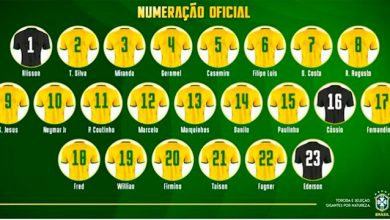 numeração 390x220 - CBF apresenta numeração das camisas da seleção para a Copa 2018