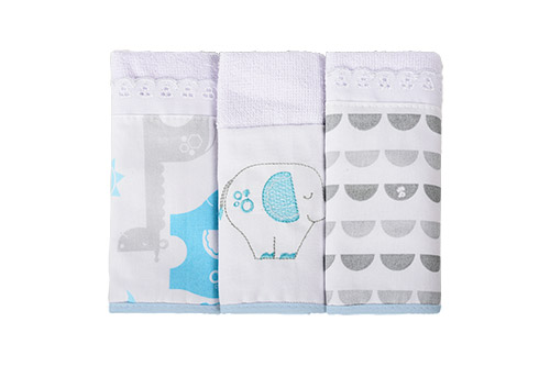 toalha boquinha masc - Fisher-Price e Incomfral apresentam coleção de cama e banho
