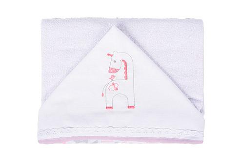 toalha capuz bordado fem - Fisher-Price e Incomfral apresentam coleção de cama e banho