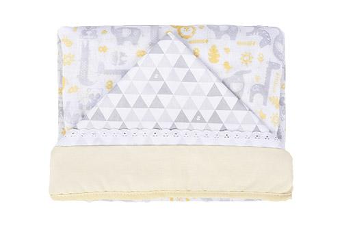 toalha estampada neut - Fisher-Price e Incomfral apresentam coleção de cama e banho