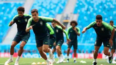 treino selecao brasileira preparacao costa rica coutinho 390x220 - Seleção brasileira se prepara para enfrentar a Sérvia