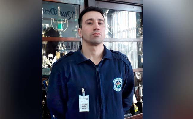 Douglas Aresi Brum é um dos 12 novos guardas municipais em formação Crédito Amilton Belmonte - Motivado ao bem servir