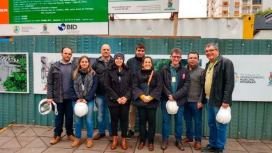 Equipe do BID visita obras de revitalização do Centro de Novo Hamburgo 390x220 - Equipe do BID visita obras de revitalização do Centro de Novo Hamburgo