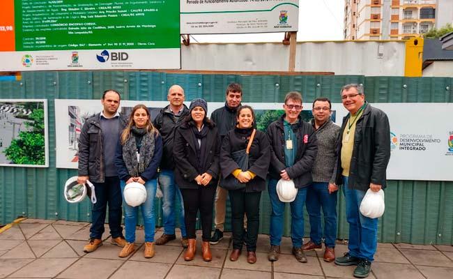 Equipe do BID visita obras de revitalização do Centro de Novo Hamburgo - Equipe do BID visita obras de revitalização do Centro de Novo Hamburgo