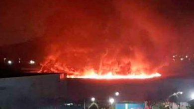 Incêndio no Riocentro 390x220 - Incêndio atinge pavilhões do Riocentro