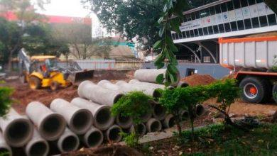 Obras da Praça do Imigrante estão em fase de drenagem 390x220 - Obras da Praça do Imigrante estão em fase de drenagem