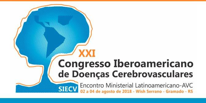 XXI Congresso Iberoamericano de Doenças Cerebrovasculares 2 - CONGRESSO IBEROAMERICANO DE DOENÇAS CEREBROVASCULARES EM GRAMADO