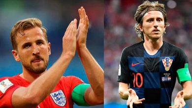 modric kane 390x220 - Croácia e Inglaterra disputam segunda vaga para final da Copa