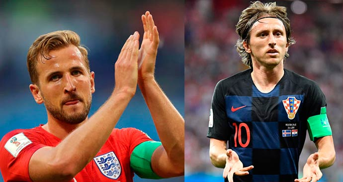 modric kane - Croácia e Inglaterra disputam segunda vaga para final da Copa