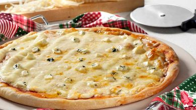 pizza quatro queijos 390x220 - Dia da Pizza: comemore com uma receita saborosa