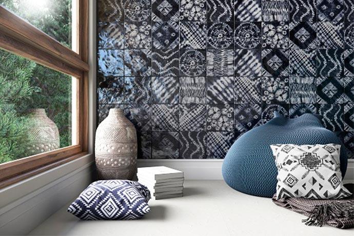 Azulejos com desenhos em Tye Dye - Decortilesapresenta os azulejos Tie-Dye