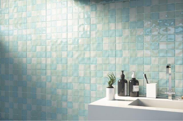 Eliane Revestimentos - Painéis geométricos fresh para paredes e piscinas
