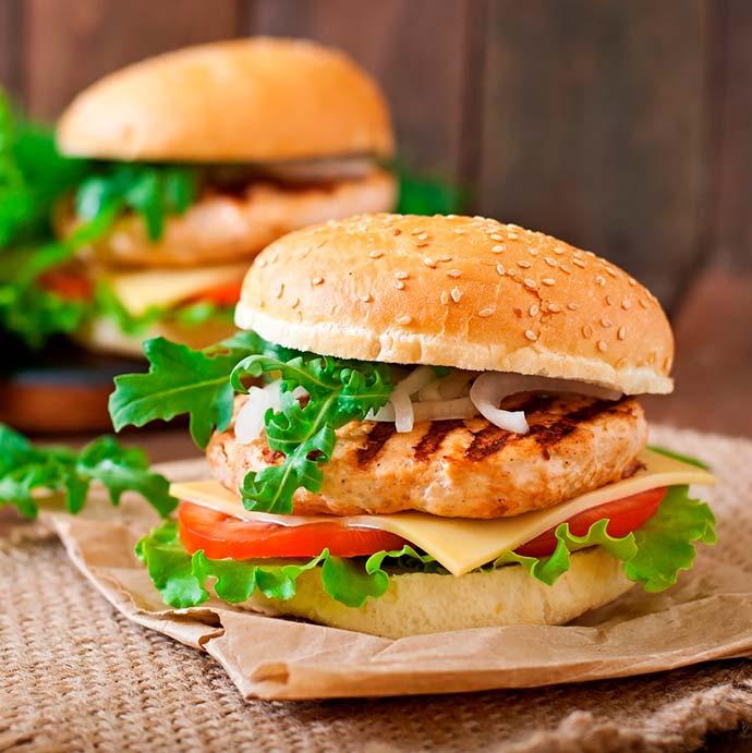 Hamburguer de frango picante - Hambúrguer de Frango Picante