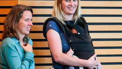 Madeleine Henfling 390x220 - Deputada alemã é expulsa do plenário por estar com bebê no colo