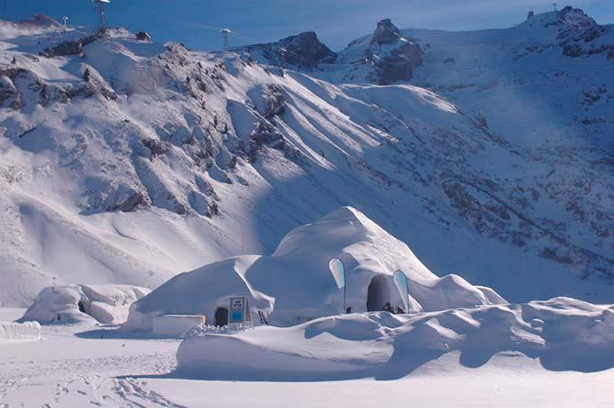 iglu - Monte TITLIS é opção nos Alpes suíços