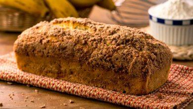 pão de banana 390x220 - Pão de Banana com Farofinha