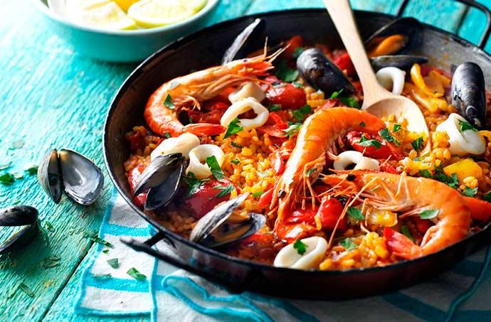 paella espanhola Frumar - Paella espanhola de frutos do mar