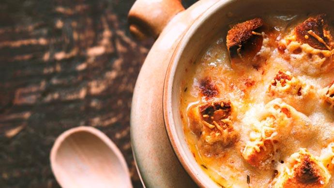 sopa cebola - Sopa de Cebola Francesa