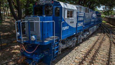 trem rumo 390x220 - Rumo transportou 1,9 milhão de toneladas de produtos agrícolas no RS