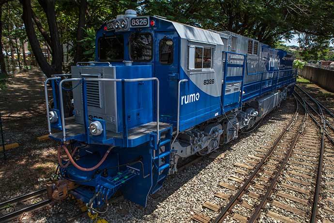 trem rumo - Rumo transportou 1,9 milhão de toneladas de produtos agrícolas no RS