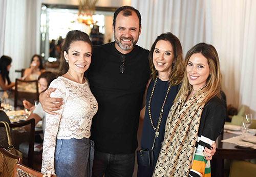 Natalia Hamada Erick Figueir de Mello Esther Schattan e Anny Meisler - Ornare faz almoço especial na abertura da CASACOR Rio