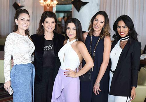 Natalia Hamada Paula Neder Shine Braga Esther Schattan e Jade Seba 02 - Ornare faz almoço especial na abertura da CASACOR Rio