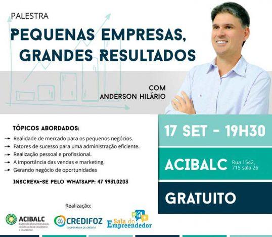 Pequenas empresas Grandes resultados palestra Balneário Camboriú 1 2 538x468 - Palestra para microempreendedores em Balneário Camboriú