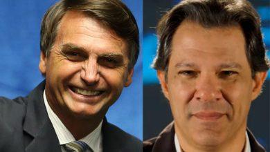 bolsonaro hadad 390x220 - Pesquisa Ibope/CNI: Bolsonaro tem 27%; Haddad, 21%; Ciro, 12% e Alckmin, 8%