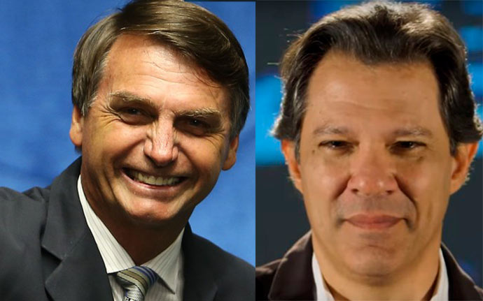 bolsonaro hadad - Pesquisa Ibope/CNI: Bolsonaro tem 27%; Haddad, 21%; Ciro, 12% e Alckmin, 8%