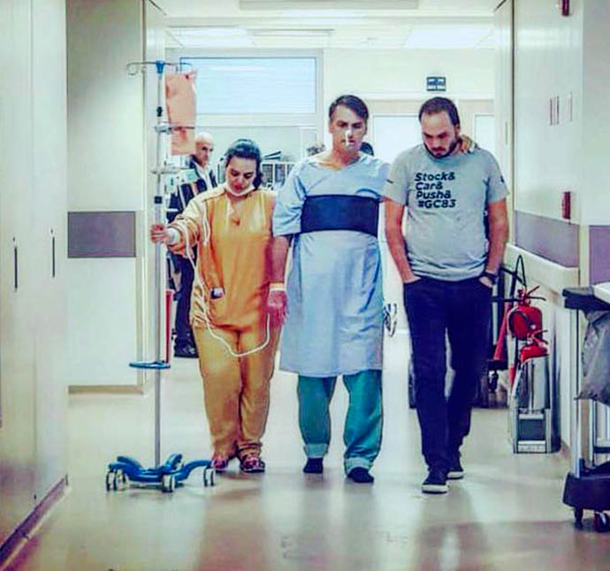 bolsonaro hospital 1 - Bolsonaro faz drenagem de líquido no abdômen