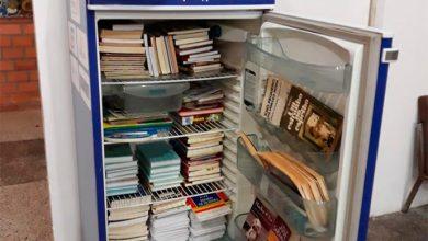 geladeira com livros 390x220 - Rotary Club São Leopoldo Sul doa geladeira com livros para pediatria do Centenário