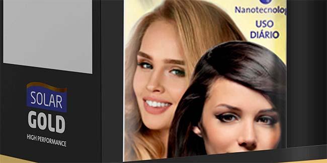 linha Solar Gold  - Leave-in da linha Solar Gold promete cabelos fortes