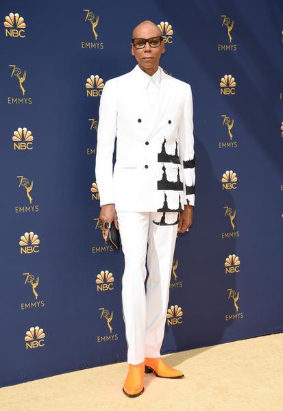 rupaul - Famosos vestem Calvin Klein no Emmy 2018