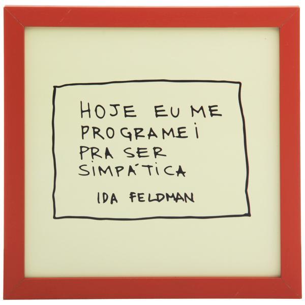349193 836786 ida   ser simpA tica quadro 22 cm x 22 cm web  - Tok&Stok faz parceria com Ida Feldman