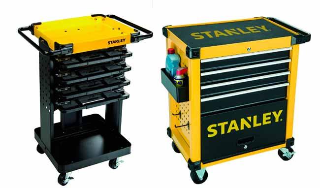 Carro metálico 62 ferramentas - STANLEY lança dois carros de serviço com ferramentas