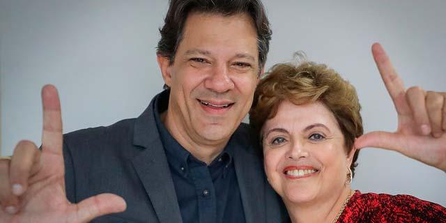 Haddad e Dilma - Haddad faz esforço para conter onda antipetista