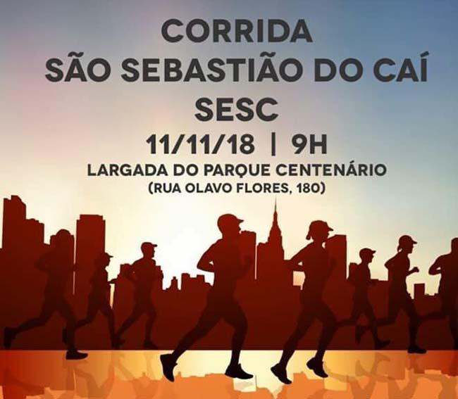 Sesc corrida 2018 - Corrida Sesc São Sebastião do Caí está com inscrições abertas