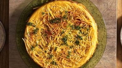Photo of Spaghetti com Açafrão e Ragu de Cordeiro
