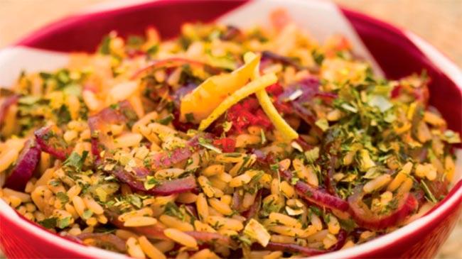 arroz - Arroz com cebola dourada