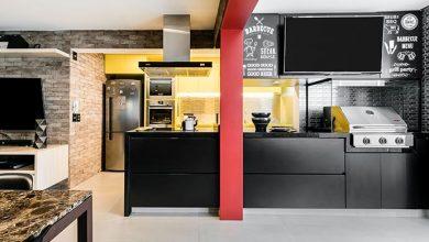 cozinha6 390x220 - Jogos, cerveja e churrasco inspiram projeto do arquiteto Luiz Paulo Andrade