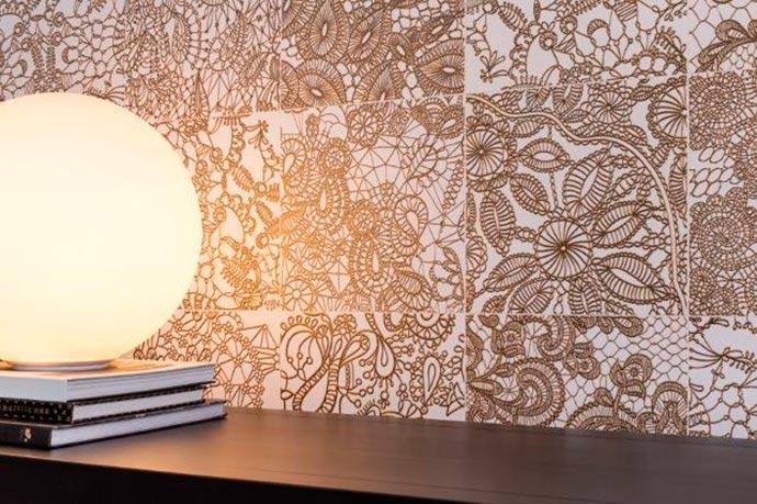 decor5 - Decortiles faz releitura de rendas sobre a cerâmica com textura e relevo