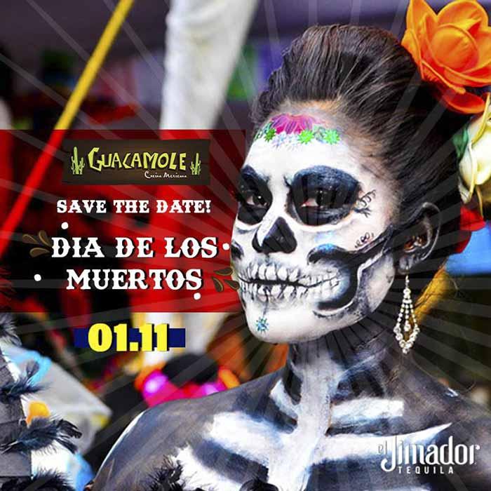 Festa especial para celebrar o Dia de Los Muertos. Guacamole Cocina  Mexicana prepara ... e95f5844b8b