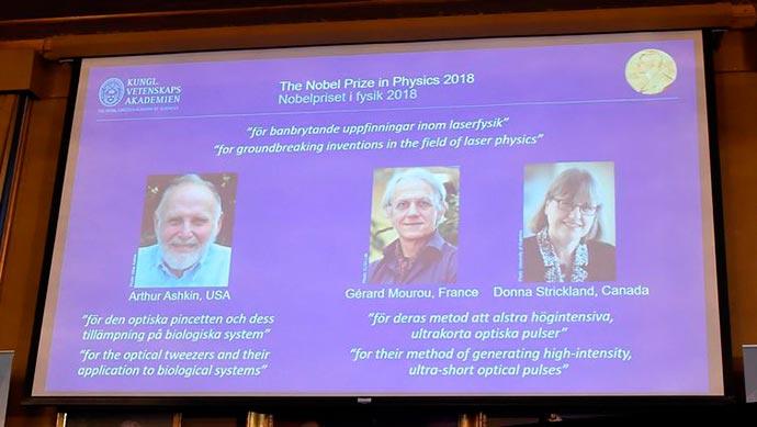 nobel - Trio vence Prêmio Nobel de Física 2018